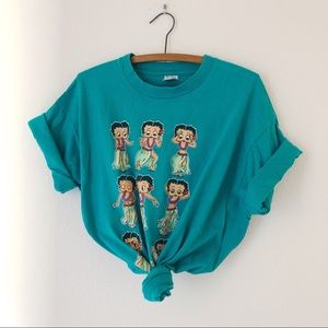 Vintage 90's Betty boop Hawaiian girl t-shirt XL